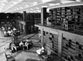 library with people reading